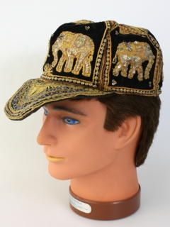 1980's Mens Accessories - Kalaga Embroidered Hat