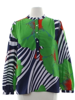 1990's Womens Abstract Art Print Shirt