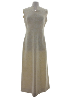 1960's Womens Mod Knit Maxi Dress