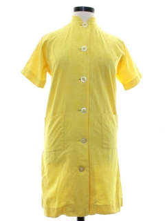1960's Womens Designer Montaldos Mod Shift Dress