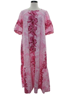 1980's Womens Hawaiian Muu Muu Maxi Dress