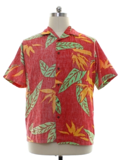 1980's Mens Totally 80s Reverse Print Big KaNaKa Hawiian Shirt