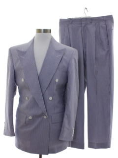 1980's Mens Seersucker Swing Style Suit