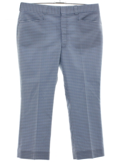 1970's Mens Small Plaid Leisure Pants