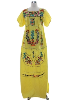1970's Womens Huipil Style Dress
