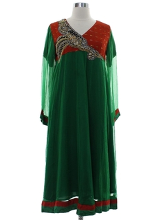 1970's Womens Ethnic Style Hippie Dress