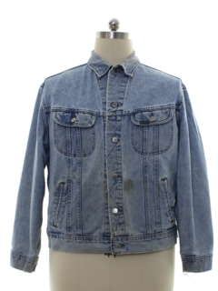 1980's Mens Grunge Denim Lee Trucker Jacket