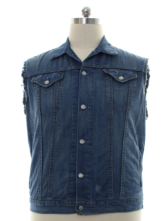 1990's Mens Levis Denim Grunge Trucker Vest Jacket