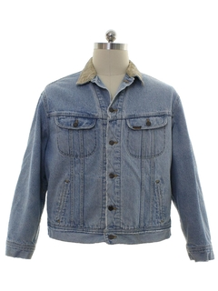 1990's Mens Grunge Lee Stone Washed Denim Grunge Jacket