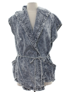 1980's Womens Acid Washed Totally 80s Style Shirt
