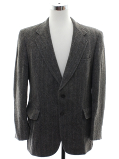 1980's Mens Wool Tweed Blazer Sportcoat Jacket