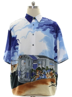 1990's Mens NYC Subway Club Or Rave Shirt