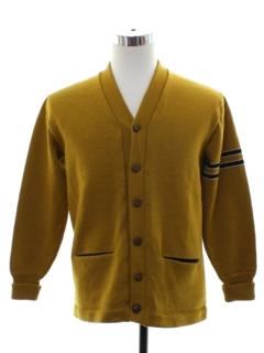 1950's Mens Wool Letterman Varsity Sweater