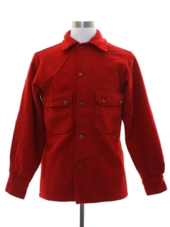 1950's Mens Wool Official Boy Scout CPO Style Jacket