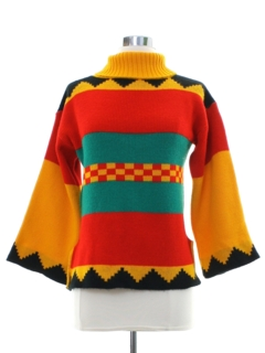 1980's Womens Totally 80s Pullover Sweater