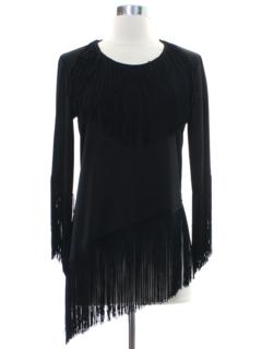1970's Womens Fringed Disco Cocktail Shirt