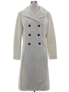1960's Womens Mod Double Breasted Coat Jacket