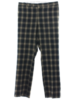 1960's Mens Plaid Golf Pants