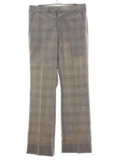 1970's Mens Plaid Flared Disco Style Pants