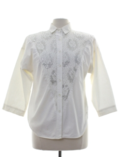 1980's Womens Totally 80s Western Style Shirt