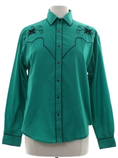 1980's Womens Totally 80s Western Shirt