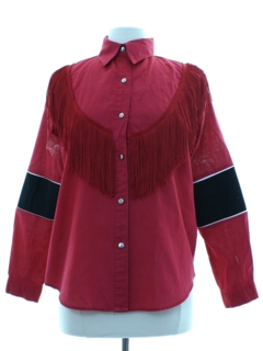 1980's Womens Totally 80s Rodeo Style Western Shirt