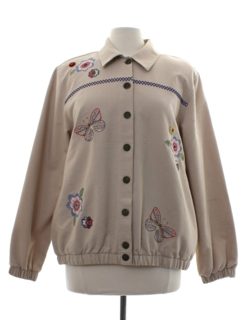 1980's Womens Totally 80s Embroidered Jacket