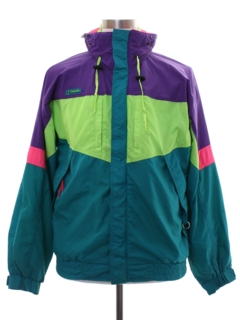 1980's Mens Columbia Sportswear Totally 80s Windbreaker Jacket