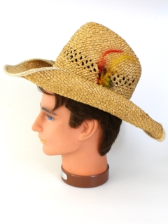 1980's Mens Accessories - Straw Cowboy Western Hat