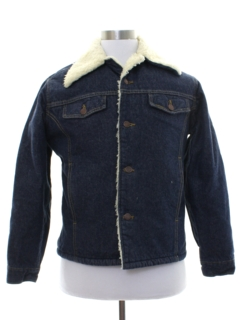 1970's Mens Roebucks Denim Sherpa Jacket