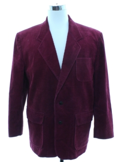 1980's Mens Totally 80s Corduory Blazer Sport Coat Jacket
