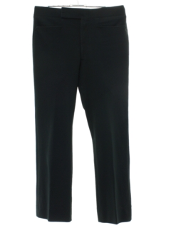 1970's Mens Mod Black Flared Leisure Pants