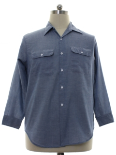 1980's Mens Big Mac Grunge Chambray Work Shirt