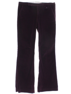1970's Mens Velvet Flared Bellbottom Pants