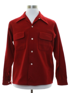 1930's Mens Wool Board Style Sport Shirt