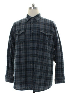 1990's Mens Pendleton Plaid Wool Sport Shirt