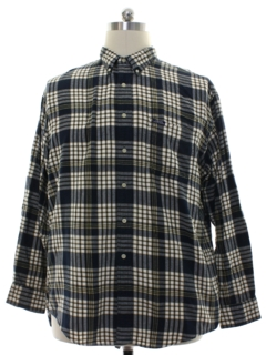 1990's Mens Pendleton Plaid Cotton Flannel Sport Shirt