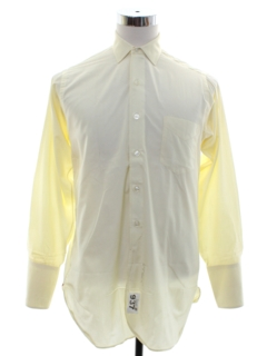 1950's Mens French Cuff Mod Shirt