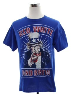 1990's Mens Patriotic Beer T-Shirt