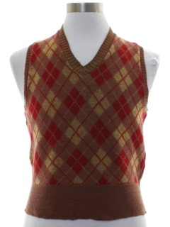 1930's Mens Argyle Wool Sweater Vest