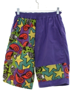 1980's Mens Totally 80s Style Board Shorts