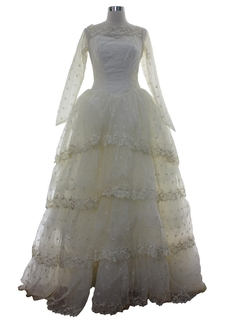 1960's Womens Southern Belle Wedding Dress