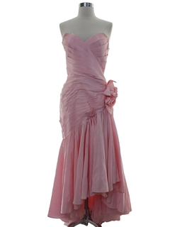 1980's Womens Totally 80s Cocktail or Prom Dress