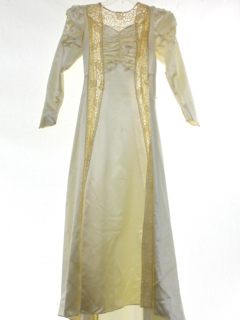 1940's Womens Fab Forties Ivory Wedding Dress