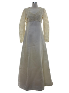 1970's Womens Wedding Ensemble Dress