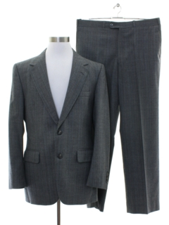 1980's Mens Bill Blass Designer Three Piece Suit