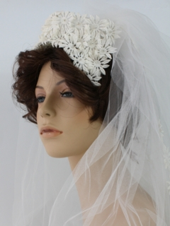 1970's Womens Accessories - Wedding Head-piece Hat
