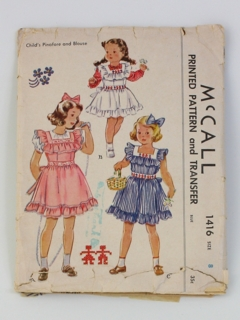 1940's Womens/Childs Sewing Pattern