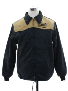 1970's Mens Windbreaker Zip Cargill Seeds Work Jacket
