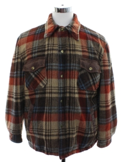 1970's Mens Grunge Wool Barn Style CPO Jacket